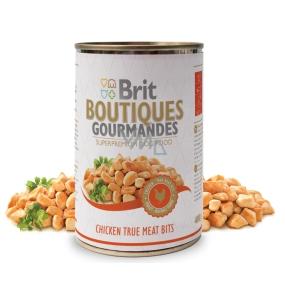 Brit Boutiques Gourmandes Chicken True Meat Bits Kuřecí maso v zeleninové omáčce 400 g