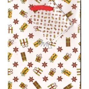 Nekupto Dárková papírová taška malá 14 x 11 x 6,5 cm vánoční 1204 02 WBS