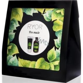 Ryor Pro muže sprchový gel 3v1 250 ml + pečující krém po holení 100 ml + froté ručník 30 x 50 cm, kosmetická sada