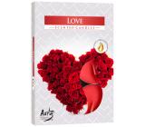 Bispol Aura Love - Láska vonné čajové svíčky 6 kusů
