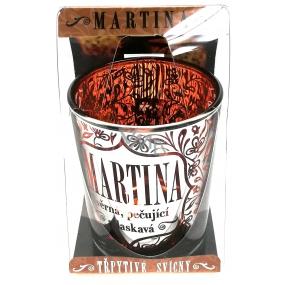 Albi Třpytivý svícen ze skla na čajovou svíčku MARTINA, 7 cm