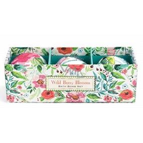 Michel Design Works Lesní plody květy luxusní sada šumivých koulí do koupele s uvolňující hřejivou vůní 3 x 50 g, kosmetická sada
