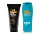 Piz Buin Tan & Protect SPF15 ochranné mléko urychlující proces opalování 150 ml + After Sun Soothing zklidňující a chladivě hydratační mléko po opalování 200 ml