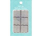 Nail Accessory Hollow Sticker šablonky na nehty multibarevné dvě vlnky 1 aršík 129