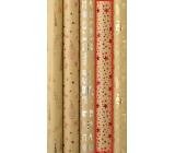 Zöllner Vánoční Luxusní balicí papír s ražbou Luxury červené hvězdičky 1,5 m x 70 cm