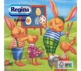 Regina Papírové ubrousky 1 vrstvé 33 x 33 cm 20 kusů Velikonočví Zajíčci