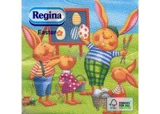 Regina Velikonoční papírové ubrousky Zajíčci 1 vrstvé 33 x 33 cm 20 kusů