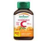 Jamieson Vitamin C Pomeranč tablety na cucání, 500 mg doplněk stravy s přírodním sladidlem 120 tablet