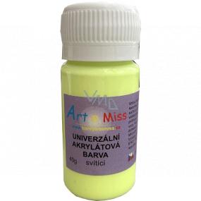 Art e Miss Svítící univerzální barva 71 Neon žlutá 40 g