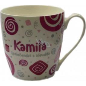 Nekupto Twister hrnek se jménem Kamila růžový 0,4 litru