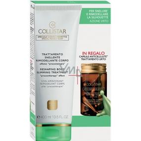 Collistar Reshaping Treatment zeštíhlující krém, modelující tělo 400 ml + Omaggio 7 Pure Atives Anticellulites kapsle proti celulitidě 7 x 4 ml, kosmetická sada