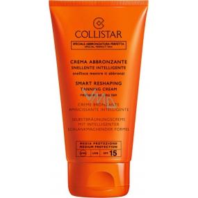 Collistar Smart Reshaping Tanning Cream SPF15 modelující samoopalovací krém Medium Protection 150 ml