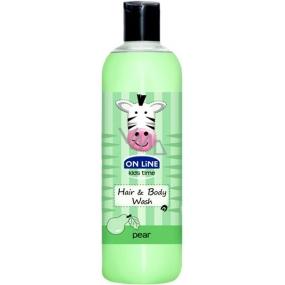 On Line Kids Time Hruška 2v1 sprchový gel a šampon pro děti 500 ml