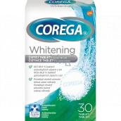 Corega Tabs Whitening čisticí tablety na zubní náhrady protézy 30 kusů