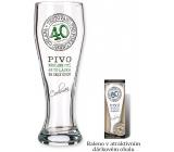 Nekupto Dárky s humorem Pivní sklenice humorné Výročí 40 0,6 l