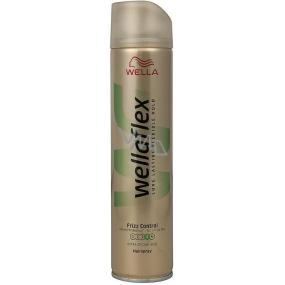 Wella Wellaflex Frizz Control Extra Strong Hold extra silné zpevnění lak na vlasy 250 ml