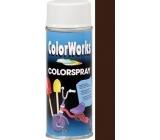 Color Works Colorspray 918514 čokoládově hnědý alkydový lak 400 ml