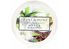 Heart & Home Bílý čaj a eukalyptus Sojový přírodní vonný vosk 27 g