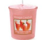 Yankee Candle White Strawberry Bellini - Bílý jahodový koktejl vonná svíčka votivní 49 g