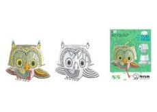 Monumi 3D Sova k vymalování 16,5 cm, pro děti od 5 let