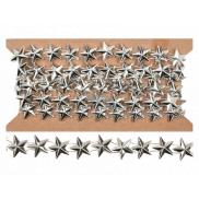 Řetěz stříbrný s hvězdami 1,5 m