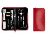 Kellermann 3 Swords luxusní manikúra 9 dílná Articial Leather z vysoce kvalitní umělé kůže Red 5239 FN