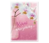 Ditipo Hrací přání k narozeninám Krásné narozeniny Bílá orchidej Eva a Vašek 224 x 157 mm