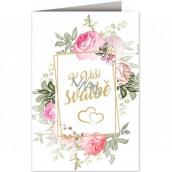 Nekupto Přání k svatbě Rámeček s květinami 115 x 170 mm 3597 J