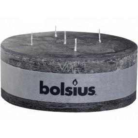Bolsius Rustic Antracit designová svíčka 5 knotů 185 x 70 mm