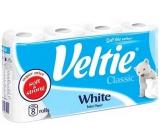 Veltie White toaletní papír bílý 2 vrstvý 180 útržků 8 rolí