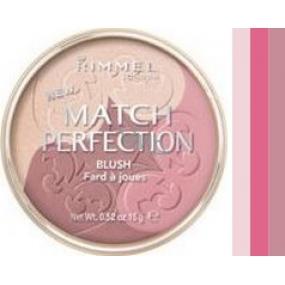 Rimmel London Match Perfection Trio tvářenka 003 Medium 15 g