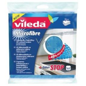 Vileda 3D Mikrohadřík se stříbrnými vlákny Odor - Stop 34 x 31 cm 3 kusy