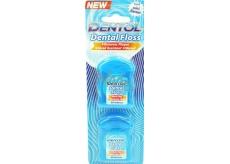 Dentol Dental Floss Cool Mint dentální voskovaná nit 2 x 50 metrů