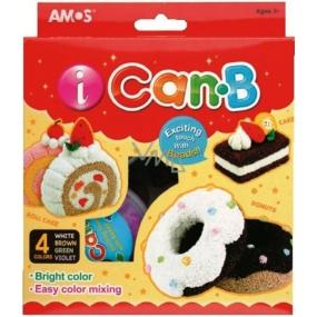 Amos iCanB Bublinková modelovací hmota jemná 4 kelímky po 25 g
