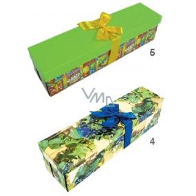 Anděl Dárková krabička skládací s mašlí na láhev celoroční, 34x9,5x9,5 cm