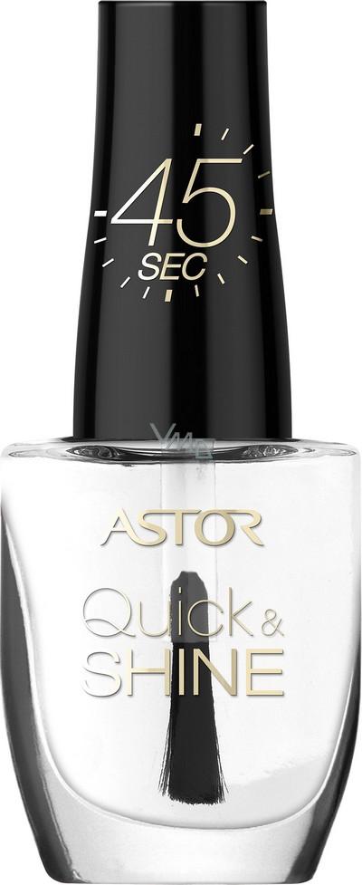 Astor Quick & Shine Nail Polish lak na nehty 001 Clear Dew 8 ml