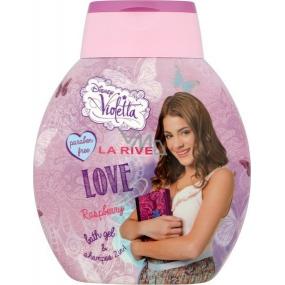 Disney Violetta Raspberry 2v1 šampon a koupelové mléko pro dívky 250 ml