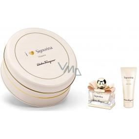 Salvatore Ferragamo Signorina Eleganza parfémovaná voda pro ženy 30 ml + tělové mléko 50 ml, dárková sada