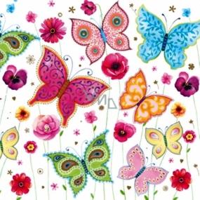 Maki Papírové ubrousky motýlci 3 vrstvé 33 x 33 cm 20 kusů