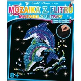 Mozaika z flitrů 8+ Delfín 35 x 26 cm