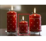 Lima Srdíčko potisk svíčka červená válec 50 x 70 mm 1 ks