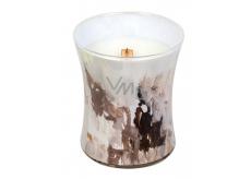WoodWick Honey Tabac - Medový tabák Artisan vonná svíčka s dřevěným knotem a víčkem sklo střední 275 g