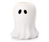 Yankee Candle Halloween Glowing Ghost keramický svícen na na votivní svíčku čajovou velký 12 x 14 cm