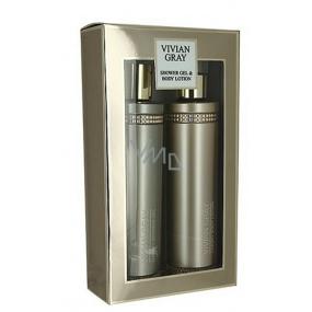 Vivian Gray Crystal In Brown luxusní sprchový gel 250 ml + tělové mléko 250 ml, kosmetická sada
