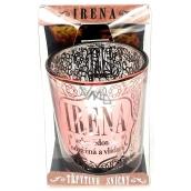 Albi Třpytivý svícen ze skla na čajovou svíčku IRENA, 7 cm