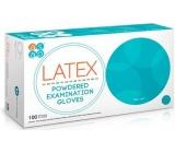Asap Rukavice Latex jednorázové pudrované latexové velikost XL box 100 kusů