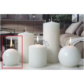Lima Ice pastel svíčka bílá koule 80 mm 1 kus
