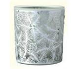 Albi Vánoční skleněný svícen - jehličí 7 cm