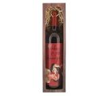 Bohemia Gifts & Cosmetics Merlot z lásky - S tebou je svět krásnější dárkové červené víno 750 ml