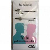 Albi Dárkový šperk duo náramky Ty a já 2 kusy